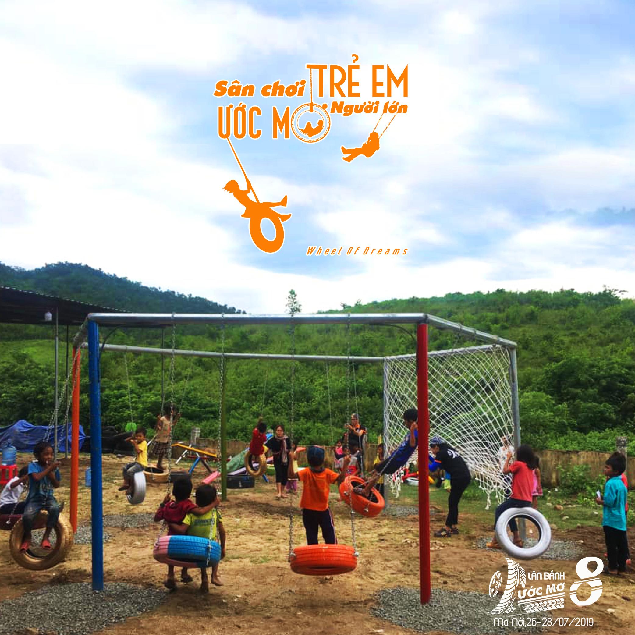 Dự án sân chơi cho trẻ em vùng cao : Lăn bánh ước mơ