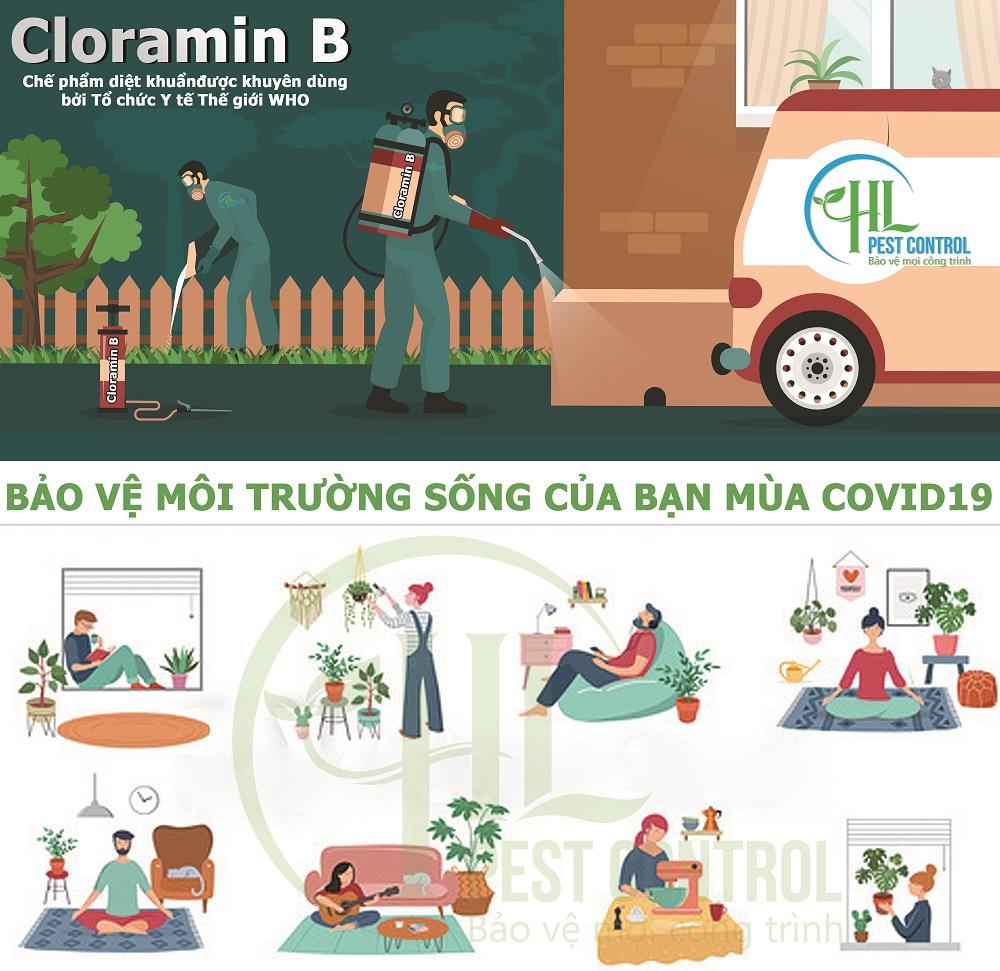 Dùng Cloramin B bảo vệ ngôi nhà và người thân của bạn bằng cách sát khuẩn và làm sạch mọi thứ.